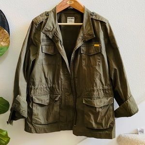 OLD NAVY military utility jacket XL green coat